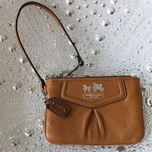 Leather Coach Wristlet!!